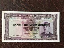 1967 Mozambique Large Banknote 500 Escudos Unc