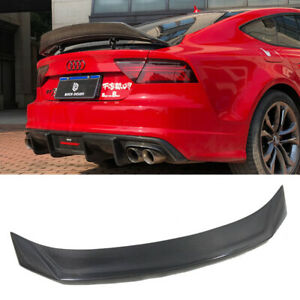 Carbon Fiber A7 Rear Trunk Lid Spoiler Wing Fit for Audi A7 S7 RS7 2013-2017