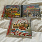 Lot Of 3 Roller Coaster Tycoon & Mall Tycoon 2 Pc Computer Games Loopy Landscape