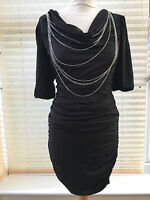 Ann Summers Ladies Figure Hugging Black Sexy Ashley Chain Dress Tunic RRP £35