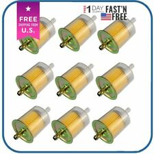 10pc Universal 5/16 Fuel Filters Industrial Motorcycle RV's Inline Gas Fuel Line