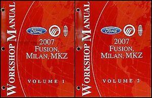 2007 Fusion Milan Mkz Tienda Manual Juego Ford Lincoln Mercury Taller Servicio