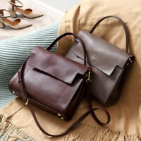 Real Leather Messenger Single Shoulder Bag Crossbody Bag Business Purse Small