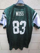 Maillot foot américain JETS NEW YORK MOSS n°83 Reebok NFL shirt XL enfant = S