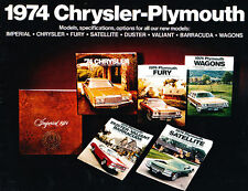 1974 Chrysler Plymouth 40-page Brochure Catalog - Barracuda Duster Satellite