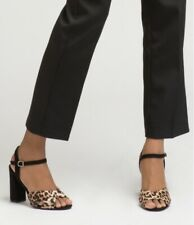 Sandali moda stampa animalier tacco quadrato cinturino caviglia mis 36 nuovi