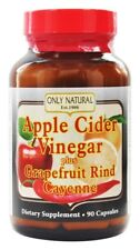 Only Natural Apple Cider Vinegar Plus Grapefruit Cayenne 700 mg 90 Capsules