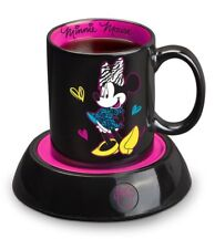 Disney Minnie Mouse Mug Warmer Black & Pink Ceramic 10 Oz Mug Home Office Gift