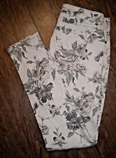 Bootlegger Jeans Size 29 Paradise Grey Floral Pattern Low Rise Skinny Jeans