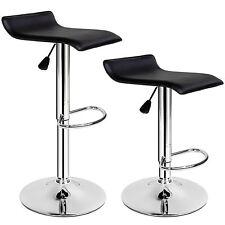 Tabouret de bar lot de 2 chaise fauteuil bistrot réglable siège design chrome