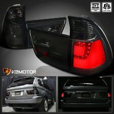 Smoke 2000-2006 BMW E53 X5 LED Rear Stop Brake Lamps Tail Lights Left+Right