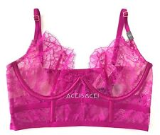 NWT* Victoria's Secret VERY SEXY FLORAL*MESH Unlined Demi Bra--PURPLE--32C