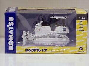 """Komatsu D65PX-17 Dozer - """"WHITE & BLACK"""" - 1/50 - First Gear #50-3249 - 300 Made"""