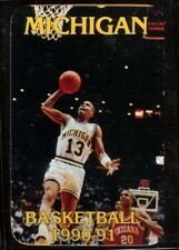 Schedule College Basketball Michigan Wolverines - 1990 1991 - First of America