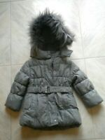 giubbetto piumino giubbotto giaccone bambina neonata invernale grigio cappuccio