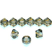 SCB621sp Black Diamond 8mm Xilion Faceted Bicone Swarovski Crystal Beads 12pc