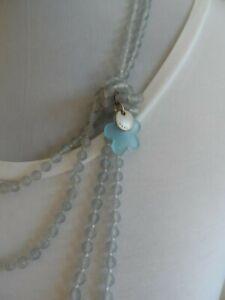 Marc Cain lange Halskette Acrylsteine in blau