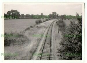 PHOTOGRAPH THE RAILWAY AT BLUNSDON SWINDON WILTSHIRE VINTAGE 1960S