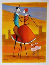 """ESTHER MYATLOV """"THE DANCE"""" Hand Signed Limited Edition Art Serigraph"""