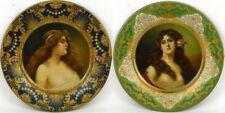 Set of TWO ©1905 MALT NUTRINE 10 inch Vienna Art Plates Anheuser Busch