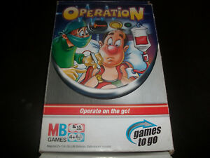 Travel Operation Games to Go Spare Parts Pieces Cards Rules etc