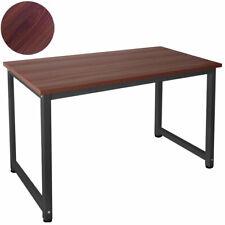 B-Ware Tisch Computertisch PC Schreibtisch 160 x 80 cm Teak Schwarz Kingpower