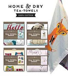 Home & Dry 100% Cotton Funny Novelty Tea Towel