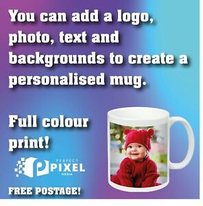 Personalised Photo Mug Cup Custom Printed With Your Picture  text  LOGO slogan