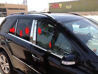 2007-2012 Mercedes GL320 GL350 X164 Chrome Pillar Post+Window Sill Trim Combo