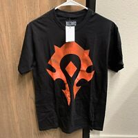 World Of Warcraft Horde Logo Mens Shirt Size Medium Tshirt Blizzard Blizzcon NEW