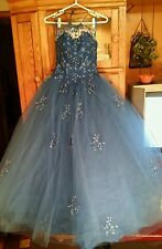 MORI LEE ROYAL BLUE PRINCESS BALL PROM QUINCEANERA PAGEANT GOWN SZ9/10 Pre-OWNED