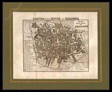 PIANTA DI BOLOGNA ARTARIA 1836 STAMPA ORIGINALE