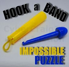 HOOK AN ELASTIC BAND IMPOSSIBLE BET A RUBBER & TUBE PUZZLE CHALLENGE MAGIC TRICK