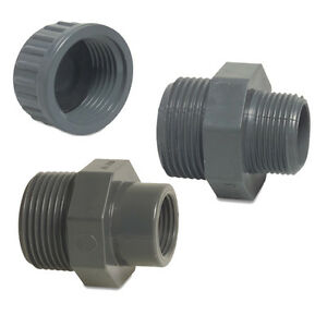 Pvc Pressure Pipe Threaded Fittings