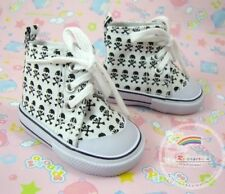 """Doll Clothes/Shoes -Low Top White Skull and Cross Bones Tennis Shoe-18"""" Dolls"""