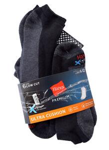 Hanes Premium X-Temp Men's Size 6-12 Low Cut Socks 6 Pairs Ultra Cushion, NEW