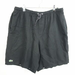 Lacoste Sport Mens Shorts Size 2XL Black Drawstring Waist Pockets Running Gym
