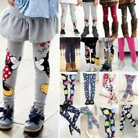Baby Girls Kids Cotton Winter Bottoms Pants Casual Leggings Stockings Age 2-12 Y