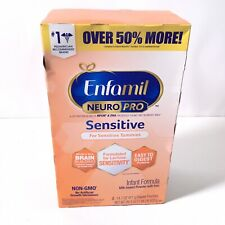 Enfamil NeuroPro Sensitive Infant Baby Formula Refill Box 2 Pouches 29.4 Oz.