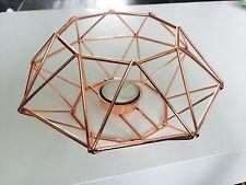 Modern Rame Rose Oro sala da pranzo tealight portacandele Geometrico Cavo GABBIA Decor