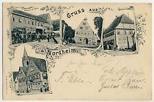 NORDHEIM OA Brackenheim / Gasthaus zur Rose * AK um 1895