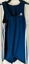 ADIDAS BOYS LARGE GK GYMNASTIC COMPETITION SHIRT STRAIGHT CUT NAVY Sz CL NWT!
