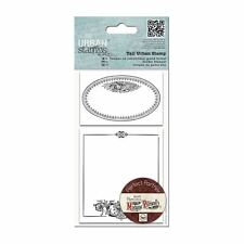 SALE 2pc Madame Payraud Oval Frame Tall Urban Cling Rubber Stamp Print Craft Set