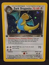 DARK DRAGONITE Pokemon 1st Edition HOLO Rare TEAM ROCKET 5/82 Great Card NM