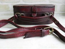 STUNNING VINTAGE STYLE HIDESIGN LEATHER SHOULDER STRAP TRAVEL BAG & POUCH
