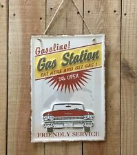 "Tin Sign 15.75 H X 11"" W  ""Gas Station"" Sign"