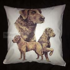 Chesapeake Bay Retriever Breed of Dog Group Cotton Cushion Cover - Perfect Gift