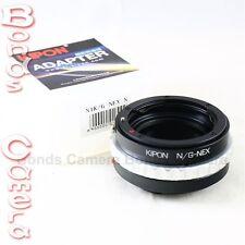 Kipon Nikon F mount G AF-S Lens to Sony E NEX Adapter A7 A7R NEX-7 5T 6 A6000