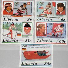 LIBERIA 1987 1355-59 1049-53 Winter Olympics 1988 Olympics Gold Medalists MNH
