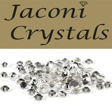 100 x 3mm JACONI Clear Glass Loose Round Flat Back Crystal Nail Body Vajazzle